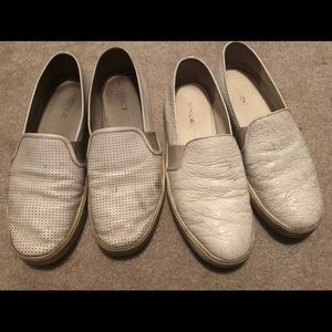 Two pairs of Vince Blair sneakers